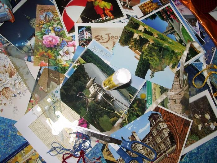 comment créer avec des cartes postales